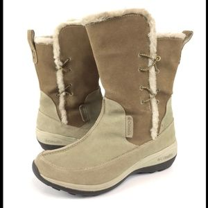Columbia Delancey 10 Beige Brown Winter Boots